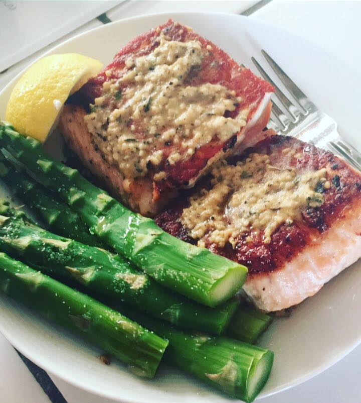 Grilled Garlic Dijon Salmon – one fit bunny